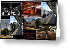 South Shore Line Railroad Collage Greeting Card