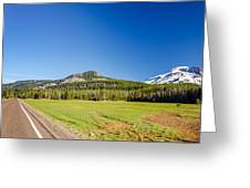South Sister And Highway Greeting Card