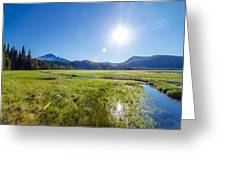 South Sister Wide Angle Greeting Card