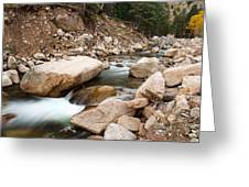 South St Vrain Canyon Autumn View Greeting Card