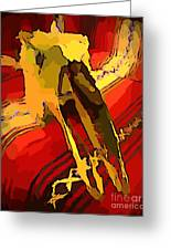 South Western Style Art With A Canadian Moose Skull  Greeting Card