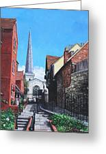 Southampton Blue Anchor Lane Greeting Card