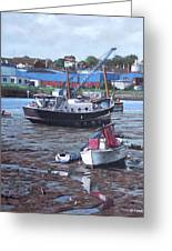 Southampton Northam Boats Greeting Card by Martin Davey