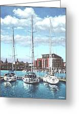 Southampton Ocean Village Marina Greeting Card by Martin Davey