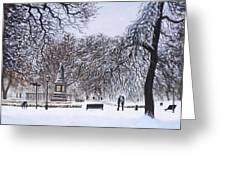 Southampton Watts Park In The Snow Greeting Card