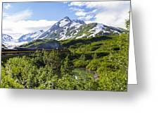 Southbound Alaska Railroad  Greeting Card