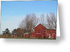 Southeast Red Barn Greeting Card