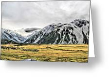 Southern Alps Nz Greeting Card