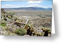 Southern California Desert Landscape Greeting Card