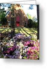 Southern Church In Bloom Greeting Card