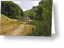Southern End Of Wolfscote Dale Greeting Card