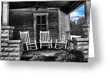 Southern Front Porch 1 Greeting Card