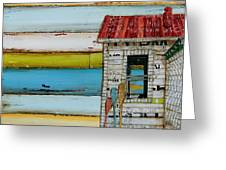 Southern Maine Beach Shack Greeting Card