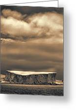 Southern Ocean In Black And White Greeting Card