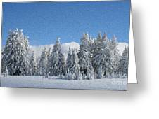 Southern Oregon Forest In Winter Greeting Card