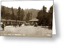 Southern Pacific Depot At Brookdale Santa Cruz Co. Cal. Circa 1910 Greeting Card