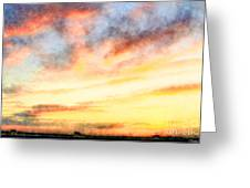 Southern Sunset - Digital Paint Iv Greeting Card
