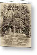 Southern Time Travel Sepia Greeting Card