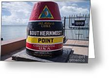 Southernmost Point Marker Greeting Card