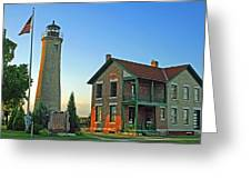 Southport Lighthouse On Simmons Island Greeting Card