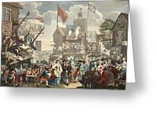 Southwark Fair, 1733, Illustration Greeting Card