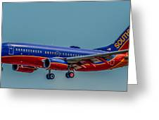 Southwest 737 Landing Greeting Card