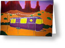 Southwest Contemporary Art - Sedona Twilight Greeting Card