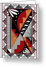 Southwest Collection - Design Seven In Red Greeting Card