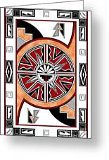 Southwest Collection - Design Six In Red Greeting Card