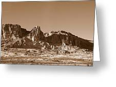 Southwest In Sepia  Greeting Card
