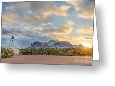 Southwest Sunrise Winter Greeting Card