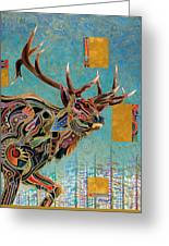 Southwestern Elk Greeting Card by Bob Coonts