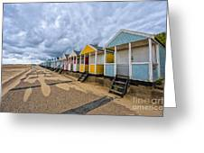 Southwold Beach Huts 4 Greeting Card
