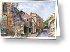 Souvigny Eclectic Architecture In A Village In Central France Greeting Card