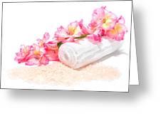 Spa Gladiolus Greeting Card by Olivier Le Queinec
