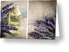 Spa With Lavender  Greeting Card