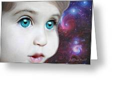 Space Child Greeting Card