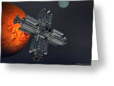 Space Colony Greeting Card