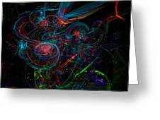 Space Junk Mental Energy From Earth Greeting Card