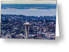 Space Needle 12th Man Seahawks Greeting Card