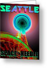 Space Needle Poster Work A Greeting Card