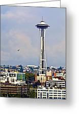 Space Needle Seattle Greeting Card