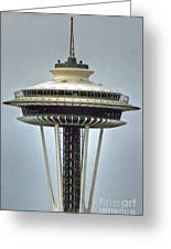 Space Needle Tower Seattle Washington Greeting Card