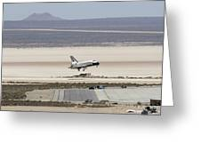 Space Shuttle Atlantis Landing Greeting Card