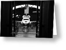 Space Shuttle Enterprise Greeting Card by Chris Bhulai