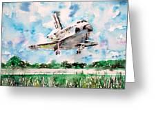 Space Shuttle Landing Greeting Card