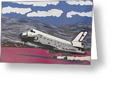 Space Shuttle Landing In The Desert Greeting Card