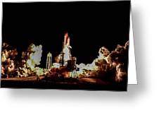 Space Shuttle Night Launch Greeting Card