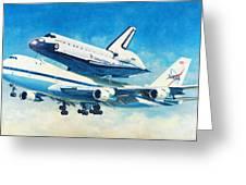 Space Shuttle's Last Flight Greeting Card