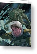Space Station Monster Greeting Card